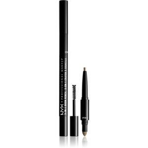 NYX Professional Makeup 3-In-1 Brow Pencil víceúčelový produkt na obočí odstín 01 Blonde