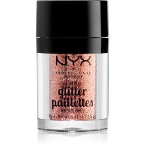 NYX Professional Makeup Glitter Goals metalické třpytky na obličej a tělo odstín 01 Dubai Bronze 2,5 g