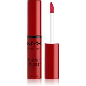 NYX Professional Makeup Butter Gloss lesk na rty odstín 20 Red Velvet 8 ml