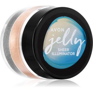 Avon Jelly rozjasňovač na obličej a tělo odstín Opal Glow 10 g