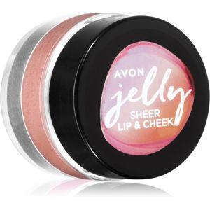 Avon Jelly multifunkční líčidlo na rty a tváře odstín Mauve Malt 5 ml