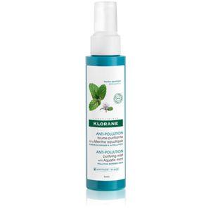 Klorane Máta vodní osvěžující mlha pro vlasy vystavené znečištěnému ovzduší 100 ml