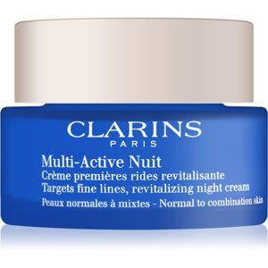 Clarins Multi-Active noční revitalizační krém na jemné linky pro normální až smíšenou pleť 50 ml