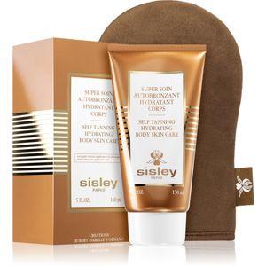 Sisley Super Soin Self Tanning Hydrating Body Skin Care samoopalovací tělové mléko s aplikační rukavicí 150 ml
