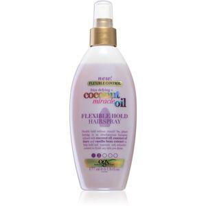 OGX Coconut Miracle Oil lak na vlasy s lehkou fixací bez aerosolu 177 ml