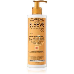 L'Oréal Paris Elseve Extraordinary Oil Low Shampoo pečující mycí krém pro velmi suché vlasy 400 ml