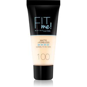 Maybelline Fit Me! Matte+Poreless matující make-up pro normální a mastnou pleť odstín 100 30 ml