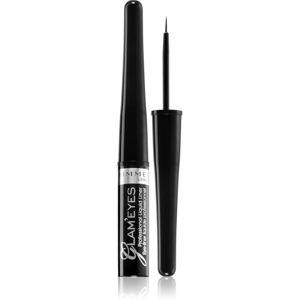 Rimmel Glam´ Eyes Professional tekuté oční linky odstín 001 Black Glamour 3,5 ml