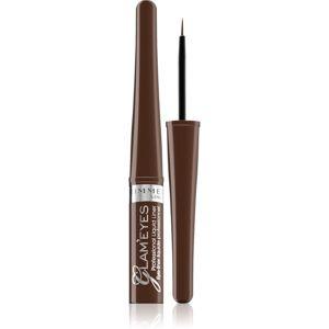 Rimmel Glam´ Eyes Professional tekuté oční linky odstín 002 Brown Velvet 3,5 ml