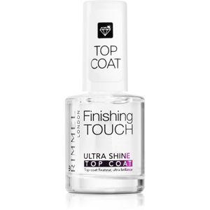 Rimmel Finishing Touch Ultra Shine vrchní lak na nehty pro dokonalou ochranu a intenzivní lesk 12 ml