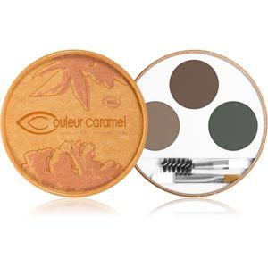 Couleur Caramel Eyebrow Kit paleta pro líčení obočí odstín Brunette 2,4 g