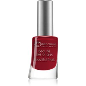 Couleur Caramel Beautiful Nails lak na nehty odstín č.8 - Matt Red 8 ml