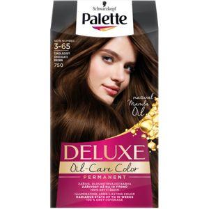 Schwarzkopf Palette Deluxe barva na vlasy odstín 3-65 750 Chocolate Brown
