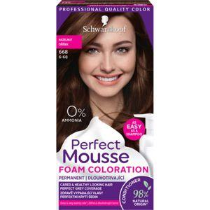 Schwarzkopf Perfect Mousse permanentní barva na vlasy odstín 668 Hazelnut
