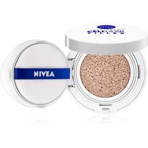 Nivea Hyaluron Cellular Filler make-up v houbičce 3 v 1 odstín 03 Dark 15 g