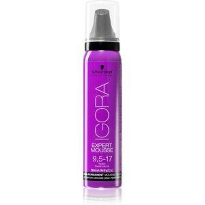 Schwarzkopf Professional IGORA Expert Mousse barvicí pěna na vlasy odstín 9,5-17 100 ml