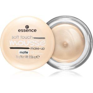 Essence Soft Touch matující pěnový make-up odstín 13 Matt Porcelain