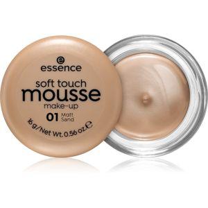 Essence Soft Touch matující pěnový make-up odstín 01 Matt Sand