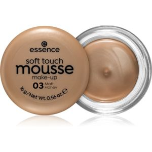 Essence Soft Touch matující pěnový make-up odstín 03 Matt Honey