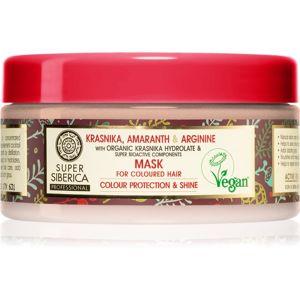 Natura Siberica Krasnika, Amaranth & Arginine pečující maska pro barvené vlasy 300 ml