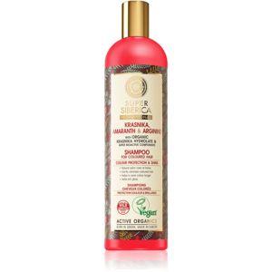 Natura Siberica Krasnika, Amaranth & Arginine čisticí a vyživující šampon pro barvené vlasy 400 ml