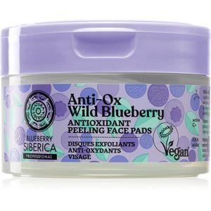 Natura Siberica Anti-Ox Wild Blueberry peelingové pleťové tamponky 20 ks