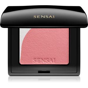 Sensai Blooming Blush rozjasňující tvářenka se štětečkem odstín 02 Blooming Peach 4 g