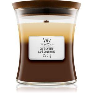 Woodwick Trilogy Café Sweets vonná svíčka s dřevěným knotem 275 g
