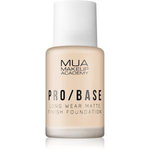 MUA Makeup Academy Pro/Base dlouhotrvající matující make-up odstín #130 30 ml