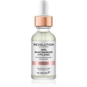 Revolution Skincare 10% Niacinamide + 1% Zinc sérum na rozšířené póry 30 ml