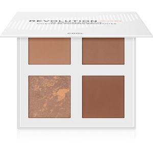 Revolution PRO 4K Bronzer Palette bronzující paletka odstín Cool 4 x 4 g