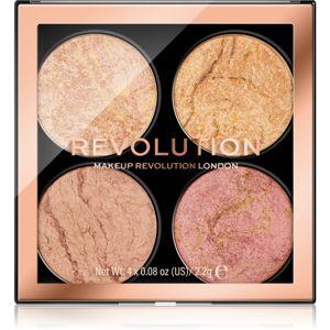 Makeup Revolution Cheek Kit paletka na tvář odstín Fresh Perspective 4 x 2,2 g
