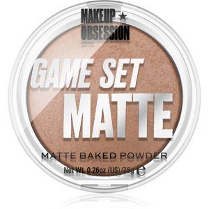 Makeup Obsession Game Set Matte zapečený matující pudr odstín Kalahari 7,5 g