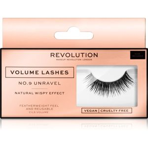 Makeup Revolution False Lashes Volume nalepovací řasy + lepidlo 1 ml NO.9 Unravel