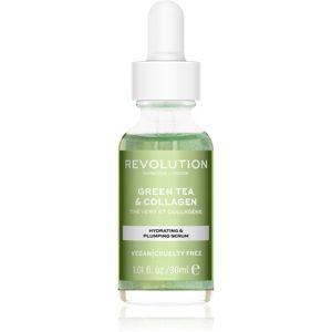 Revolution Skincare Green Tea & Collagen hydratační a vyživující sérum 30 ml