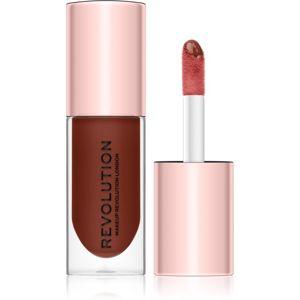 Makeup Revolution Pout Bomb lesk na rty pro větší objem s vysokým leskem odstín Cookie 4,6 ml