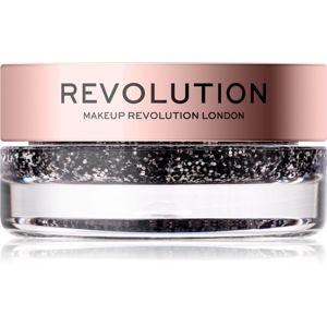 Makeup Revolution Viva Glitter Balm Pot třpytky odstín Blackout 3,2 g