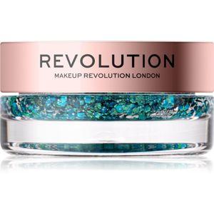 Makeup Revolution Viva Glitter Balm Pot třpytky odstín Teal Time 3,2 g