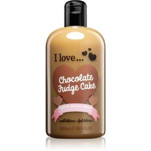 I love... Chocolate Fudge Cake sprchový a koupelový krém 500 ml