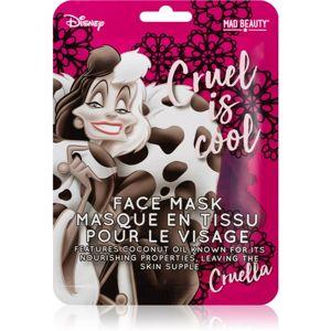 Mad Beauty Disney Villains Cruella plátýnková maska s kokosovým olejem 25 ml
