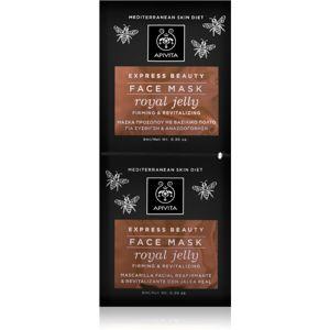 Apivita Express Beauty Royal Jelly revitalizační pleťová maska 2x8 ml