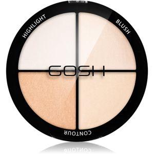 Gosh Strobe'n Glow konturovací a rozjasňující paleta odstín 001 Highlight 15 g