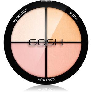 Gosh Strobe'n Glow konturovací a rozjasňující paleta odstín 002 Blush 15 g