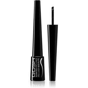 Gosh Slanted Pro Liner gelové oční linky odstín 001 Black 3 ml