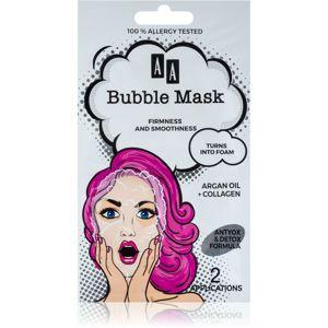 AA Cosmetics AA Bubble Mask zpevňující pleťová maska 2 x 4 ml