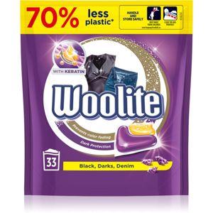 Woolite Darks, Denim & Black kapsle na praní s keratinem 33 ks