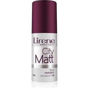 Lirene City Matt matující fluidní make-up s vyhlazujícím efektem odstín 204 Natural 30 ml