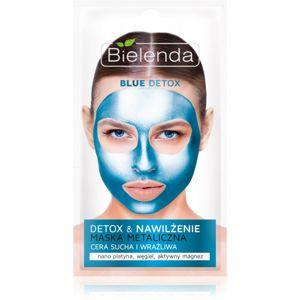 Bielenda Metallic Masks Blue Detox detoxikační a hydratační maska pro suchou až citlivou pleť 8 g
