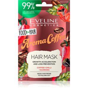 Eveline Cosmetics Food for Hair Aroma Coffee posilujicí maska pro slabé vlasy s tendencí vypadávat 20 ml