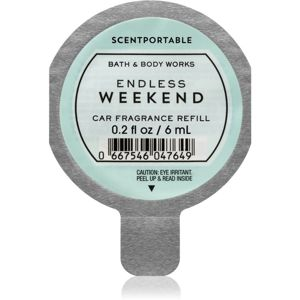 Bath & Body Works Endless Weekend vůně do auta náhradní náplň 6 ml